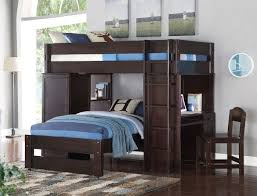 acme 37495 lars wenge twin loft bed with twin bed desk chair