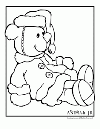 christmas coloring pages printable christmas bears animal jr