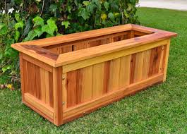 wooden box planters gardens and landscapings decoration