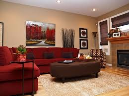 Red Living Rooms Design Ideas Decorations Photos - Red living room design ideas