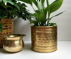Decorative Indoor Planters Large Vintage Brass Planter Vintage Brass Planter Large Brass