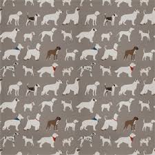 Drapery Fabrics 03499 Vy Grey Dog Pattern Drapery Fabric By Trend Fabrics 54751