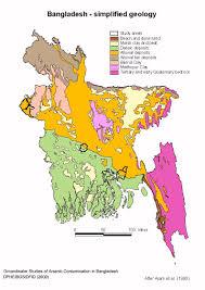 Map Of Bangladesh Bangladesh Simplified Geology Map U2022 Mappery