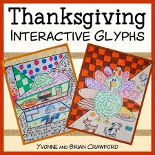thanksgiving interactive glyphs by yvonne tpt