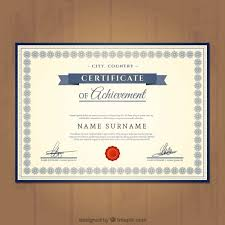 certificate of achievement template vector free download