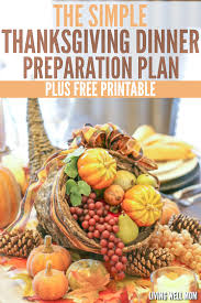 how to plan organize your thanksgiving dinner free printable