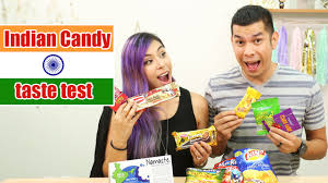 indian candy taste test yum box youtube
