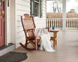 patio furniture rocking chair fibreglass iron and birch material