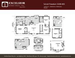 Modular Floor Plan Schult Freedom 5228 405 Excelsior Homes West Inc