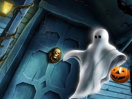 halloween ghost and haunted house background haunted wallpapers for desktop wallpapersafari