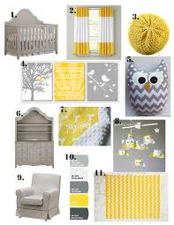 Yellow Curtains Nursery by Little Sidekick