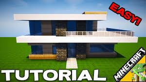 modern house minecraft simple modern house minecraft tutorial how to for inspiration