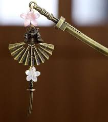 japanese hair accessories japanese hair pin kanzashi shell sword stick