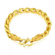 dragon bracelet gold images Xsuni vietnamese sand gold plated 18k men 39 s dragon head bracelet jpg