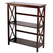 3 tier brown x frame shelf at home at home