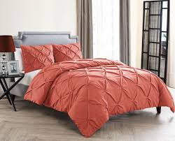 amazon com queen size removable duvet cover set in coral posh