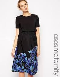 asos maternity black lace occassion dress sz eu34 uk8 us4 asos