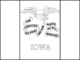 iowa state flag coloring pages usa for kids