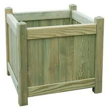 square wooden planter h 450mm l 450mm departments diy at b u0026q