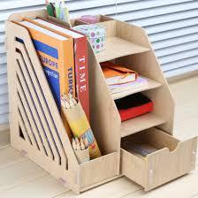 Diy Desk Organizer by Handy Diy Multifunctional Wooden Folder For Books Desk Organizer