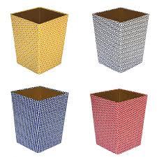 waste paper baskets geometric print waste paper bin red amazon co uk kitchen u0026 home