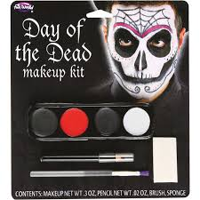 male day of the dead makeup kit halloween accessory