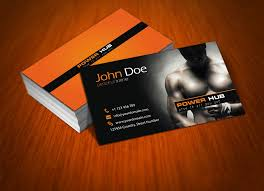 Business Card Psd Free Power Hub Gym Free Psd Business Card By Mct2art On Deviantart