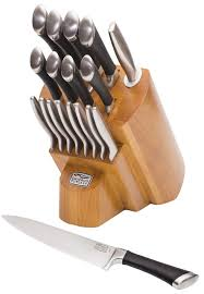 kitchen knives block set chicago cutlery fusion 18 knife block set reviews wayfair