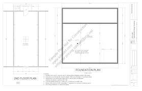Barn Plan by G314 36x36 10 Barn Plan Blueprints Construction Drawings