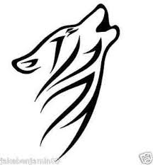 howling tribal wolf vinyl graphic decal car window sticker white