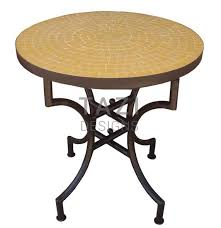 Tile Bistro Table Moroccan Mosaic Table 24 Bistro Table In Orange Tile Tazi Designs