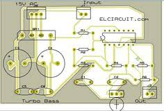 turbo bass pcb and component placement design audio schematic