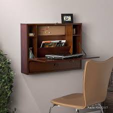 Wooden Desk With Shelves Amazon Com Southern Enterprises Wall Mount Folding Laptop Desk