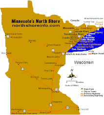 map mn maps minnesota shore hwy 61 travel info