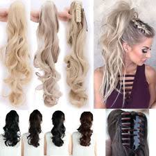 ponytail extension women s ponytail clip in human hair extensions ebay