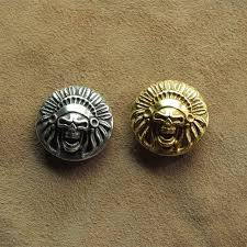 solid brass ls antique diy leathercraft hardware solid brass skull indian chief concho