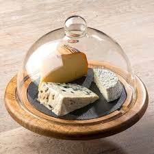 cloche de cuisine cloche a fromage laguiole en bois et ardoise noir cuisine pratique