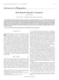 hard magnetic materials a perspective