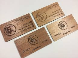 Thickness Of Business Card Wood Business Cards Laser Engraved Starting At 1 30 Each