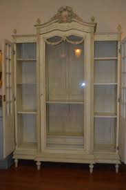 bureau style louis xvi cuisine louis xvi style painted armoire with glass door for sale