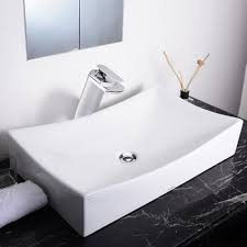 amazon com aquaterior xl rectangle porcelain ceramic vessel sink