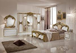 Wohnzimmer Italienisches Design Luxus Schlafzimmer Elena Weiß Gold Italienisches Design 160x200 6