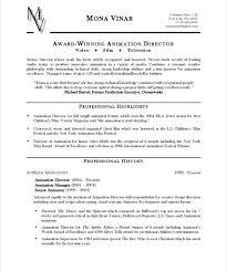resume formats exles animator resume animation resume format free