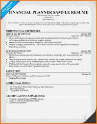 Financial Advisor Resume Examples by 9 Financial Resume Sample Financial Statement Form