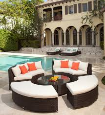 Patio Modern Furniture Home Design Graceful Round Patio Couch Modern Furniture And