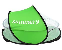 summery baby travel bed portable baby beach tent upf 35 sun