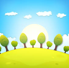 tree and clouds scenery background vector free vector in