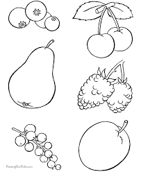 Coloring Pages Of Food Food Color Pages