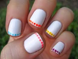 cool nail designs for short nails with white color i would only