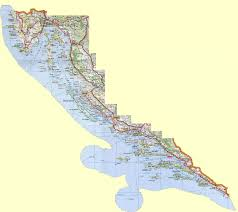 Map Of Italy And Croatia by Detailed Road Map Of The Croatian Coast Croatian Coast Detailed